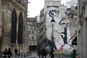 Mural found on Jan 12th walk around the Marais in Paris