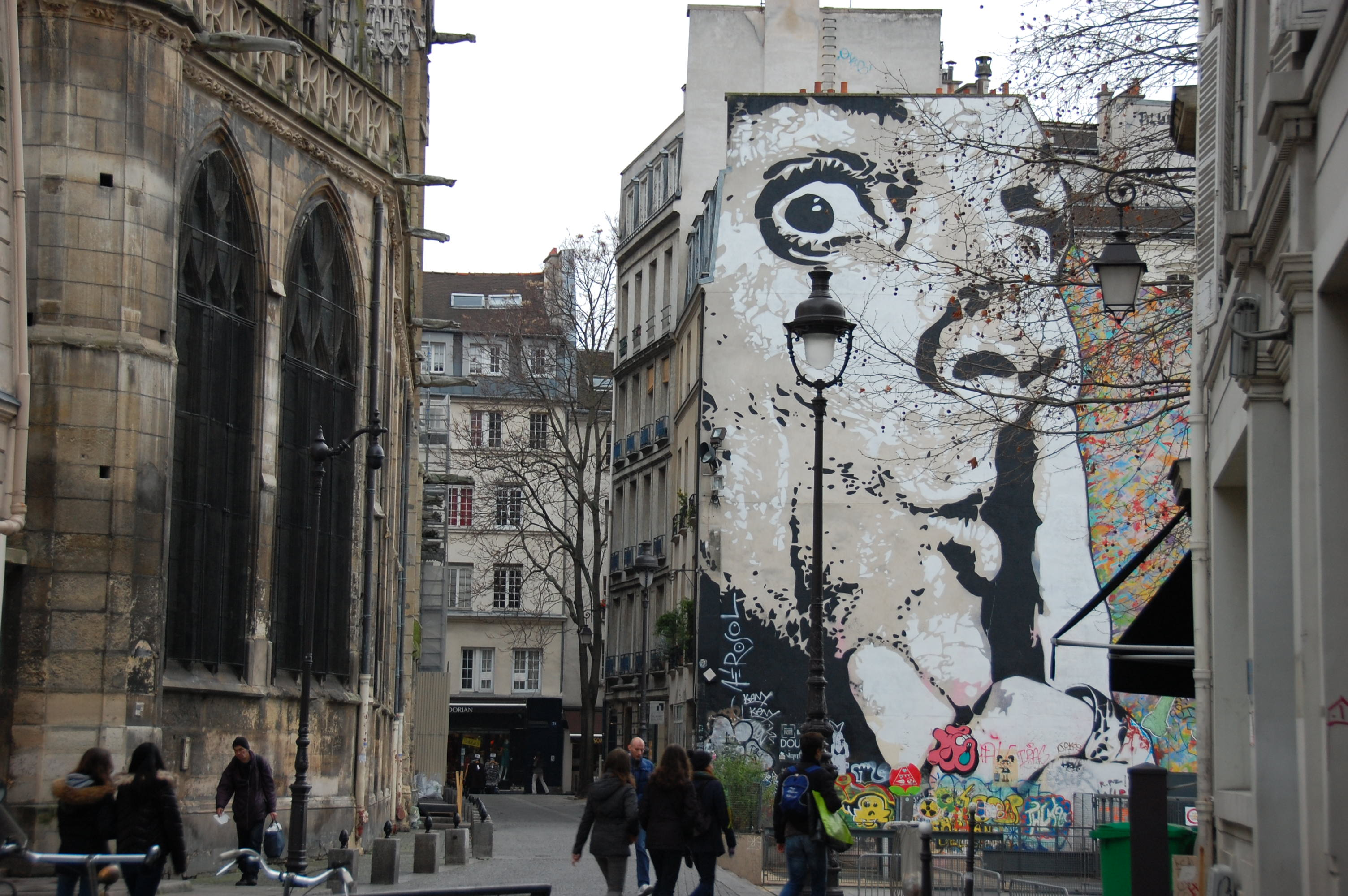 A Sunday In Parisstreet Art Les Soldes And Yes The Caged Birds
