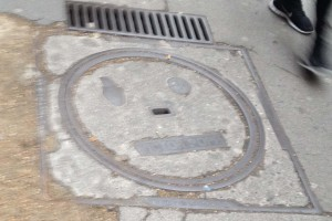 "French man hole cover is ""Meh""."