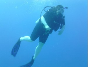 action shot! - taken by dive photog.