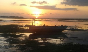 Sunset on Gilli Air